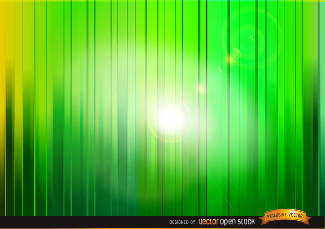 Free Shine through green vertical stripes background