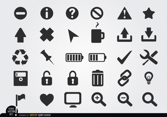 Free Flat web icon set