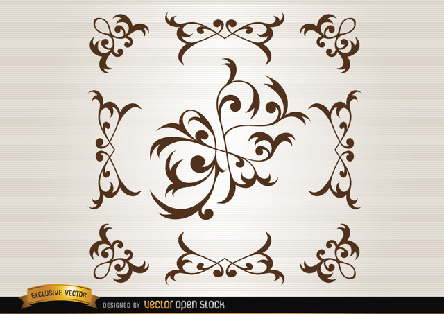 Free Vectors: Floral decorative elements | Vector Open Stock