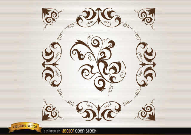 Free Loops and swirls circle decoration