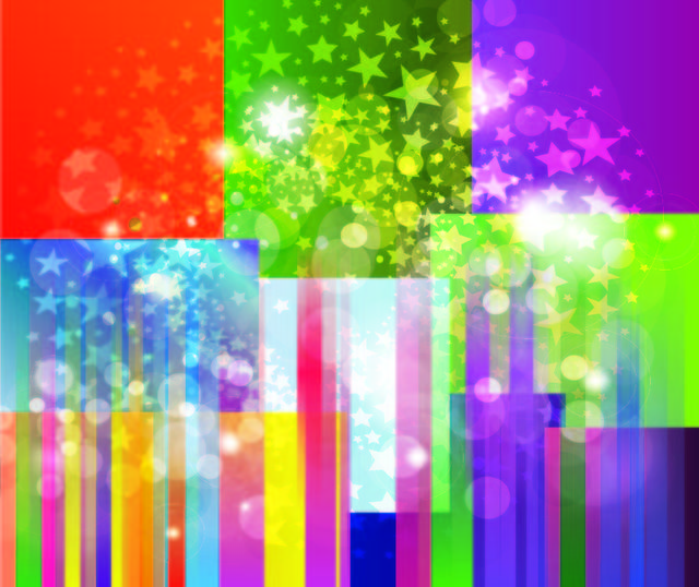 Free Colorful Striped Background with Star Explosion