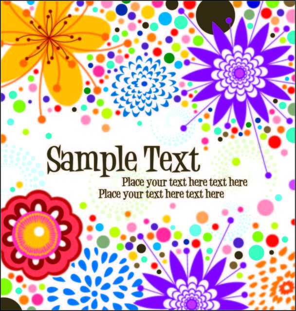 Free Simplistic Funky Floral Background Template