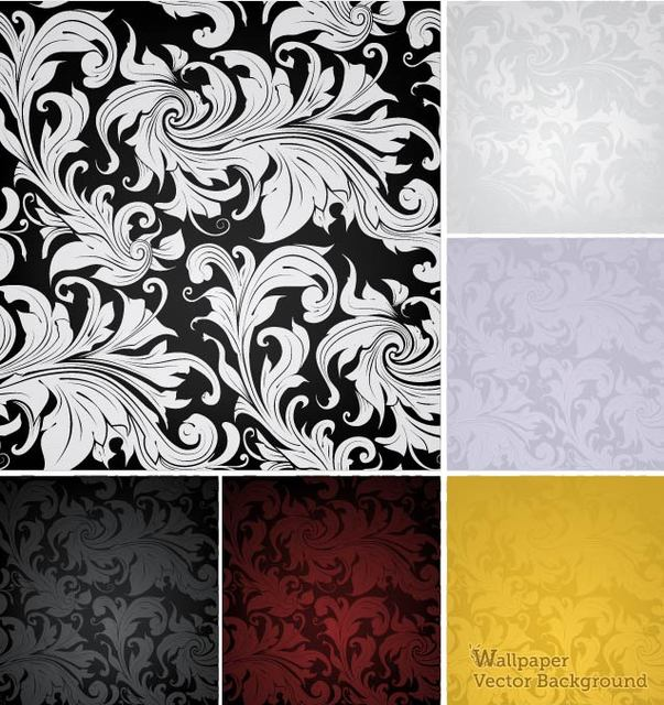 Free Classic Style Vintage Floral Pattern