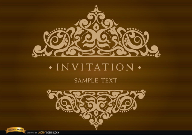 Free Invitation Card with Decorated Text