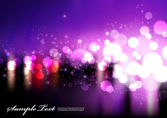 Free Purple Background with Blurry Bokeh Lights