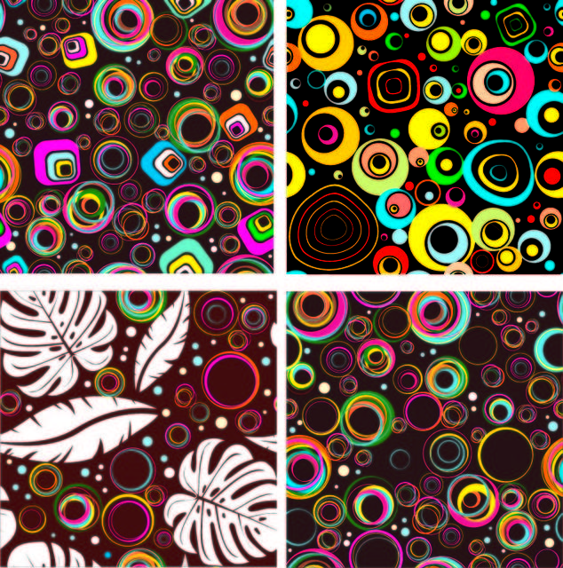 Free Colorful Seamless Circle Patterns