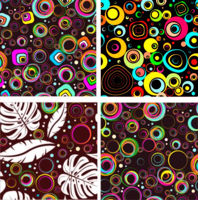 Free Colorful Seamless Circle Patterns