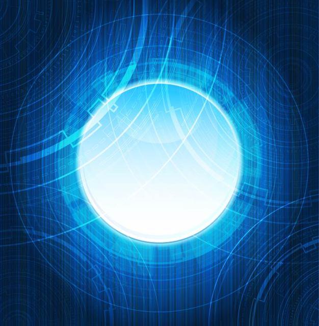Free Futuristic Blue Light Background
