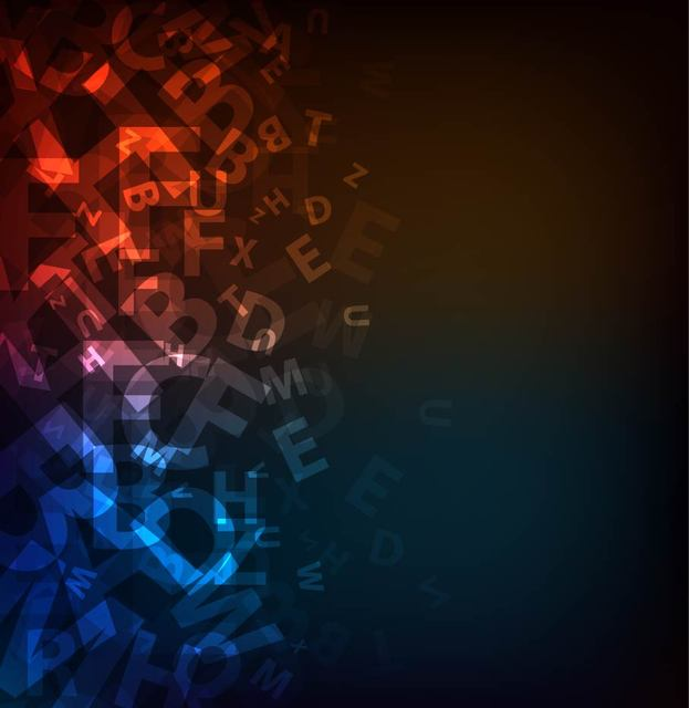 Free Dark Abstract Alphabetic Background