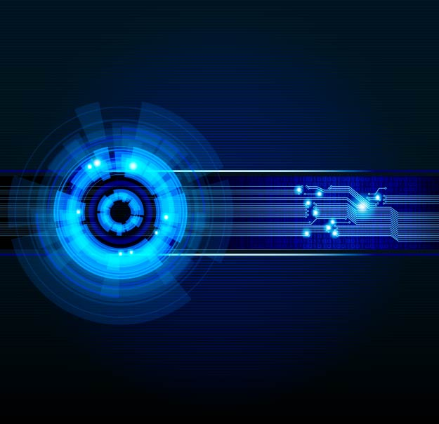 Free Digitech Blue Futuristic Background