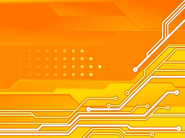 Free Circuit Board Orange Tech Background