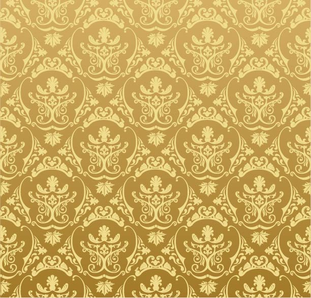 Free Golden Retro Ornamental Pattern