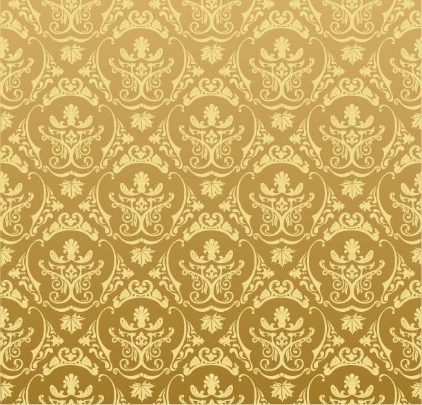 Free Golden Retro Ornamental Pattern
