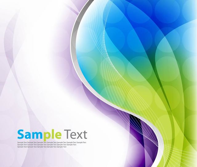 Free Colorful Wave and Spiral Line Background