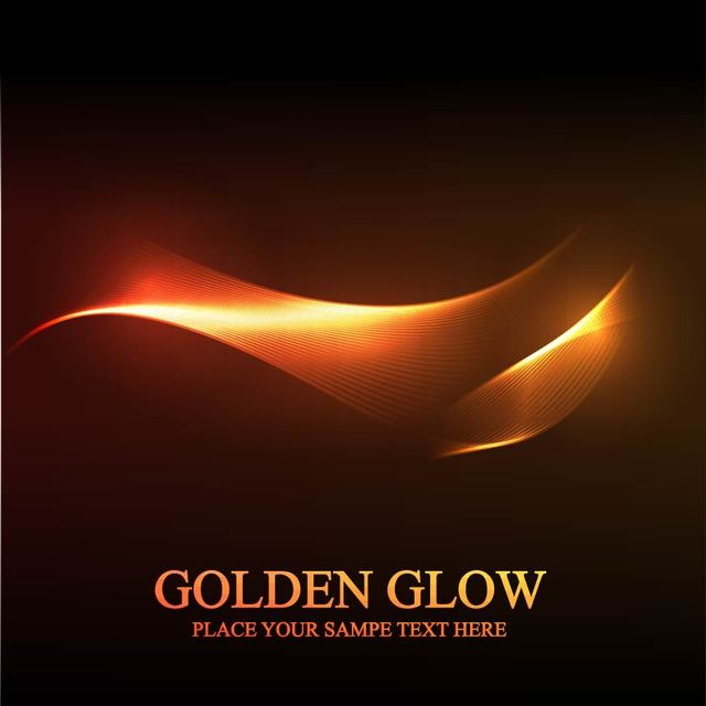 Free Golden Glow Abstract Spiral Line Background