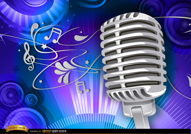 Free Microphone musical background