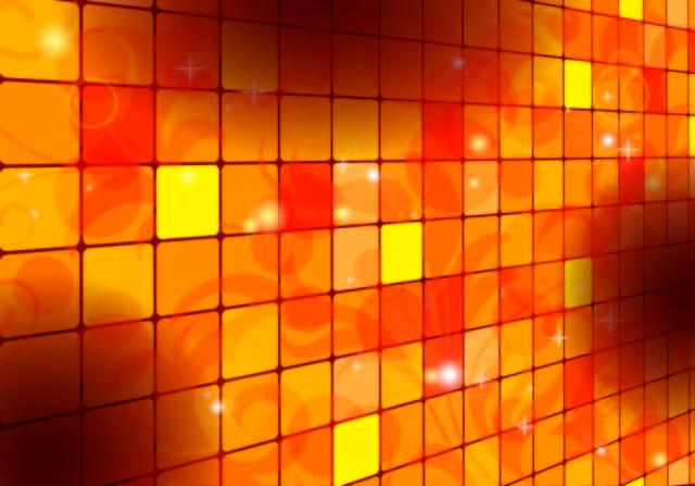 Free Square Tilled Orange Background