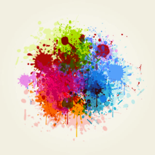 Free Blast of Grungy Colorful Splashes Background
