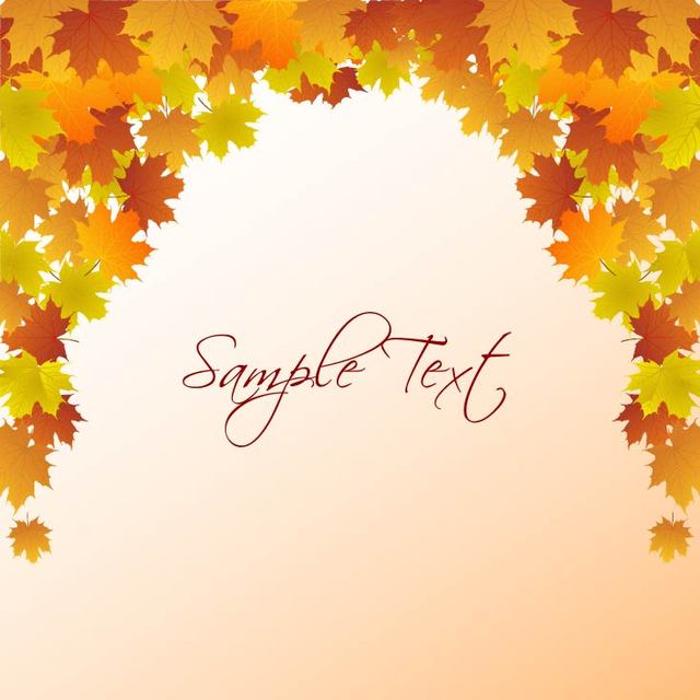 Free Autumn Leaf Frame Template