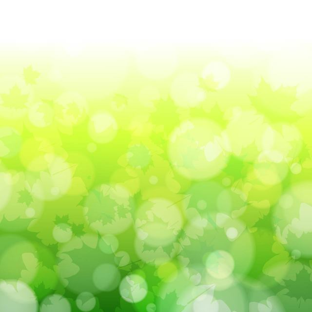 Free Green Blurry Nature Background with Bokeh Bubbles