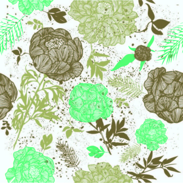 Free Retro Grungy Seamless Floral Pattern