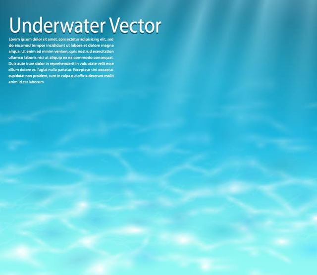 Free Realistic Blue Underwater Background