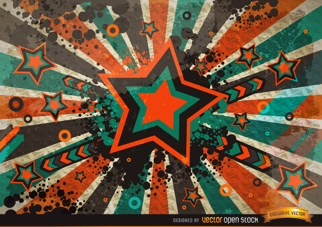Free Vectors: Grunge Vintage Star Background | Vector Open Stock