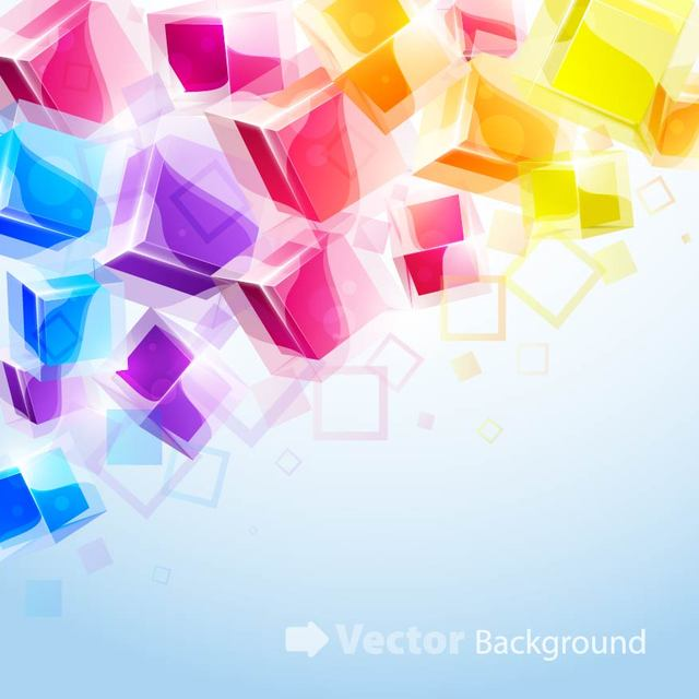 Free Colorful 3D Cubes Background