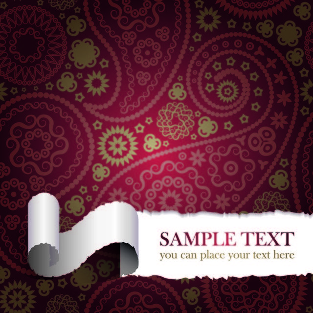 Free Ripped Seamless Paisley Background