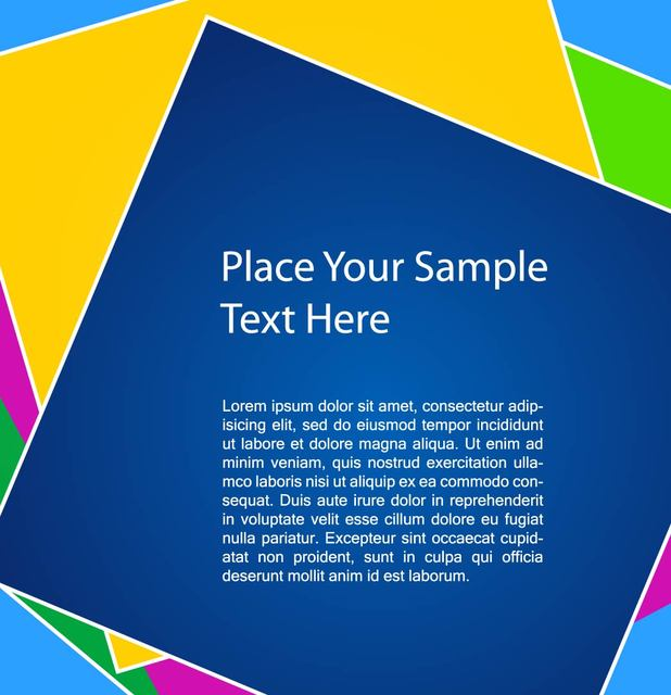 Free Colorful Square Background Template