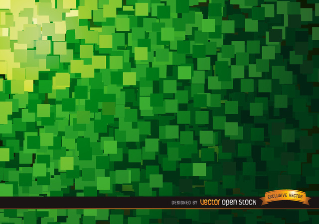 Free Abstract Green squares background