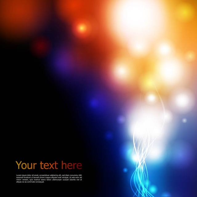Free Abstract Dark Background with Colorful Lights