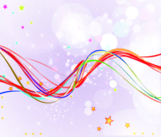 Free Abstract Background with Colorful Wavy Lines