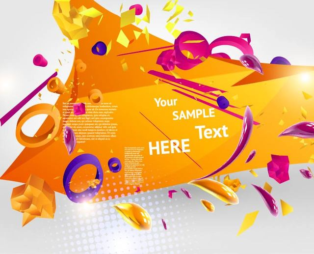 Free 3D Abstract Orangey Template Background