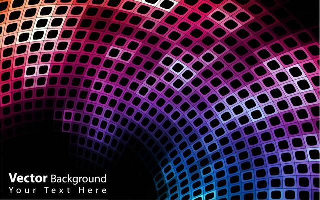 Free Abstract Colorful Curvy Disco Background