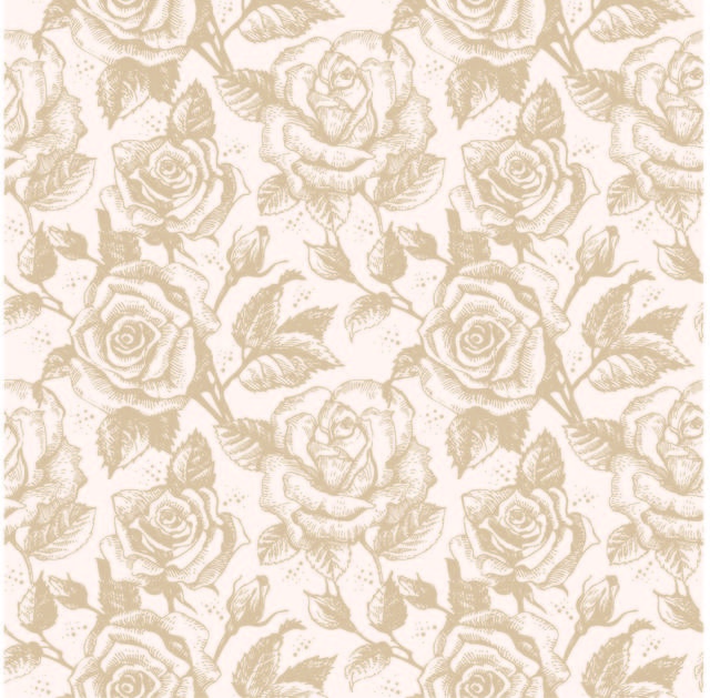 Free Vintage Seamless Sketchy Rose Pattern