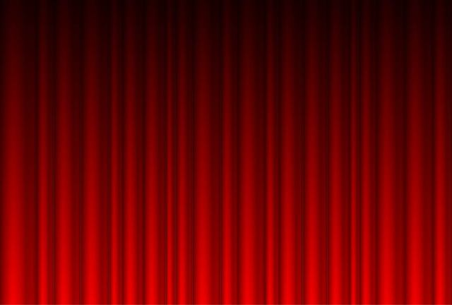 Free Realistic Red Curtain Background