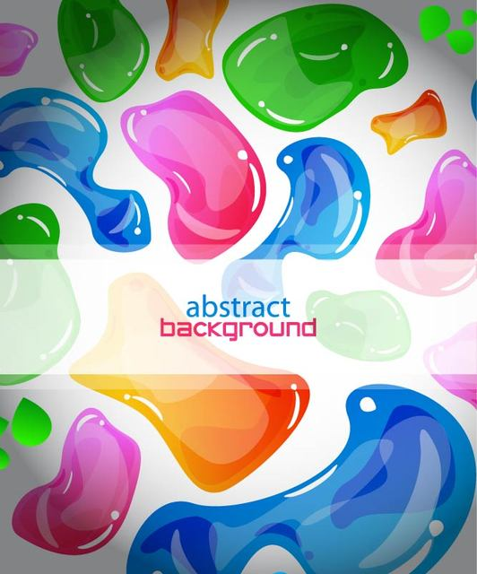 Free Colorful Abstract Jelly Background Template
