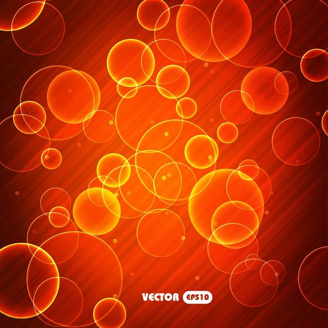 Free Bright Red Bubble Background