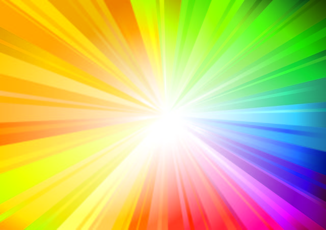 Free Bright Rainbow Sunbeam Background