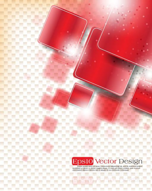 Free Abstract Bright Background with Rounded Squares