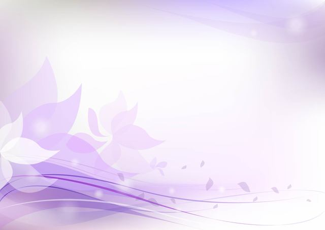 Free Fluorescent Purplish Floral Background