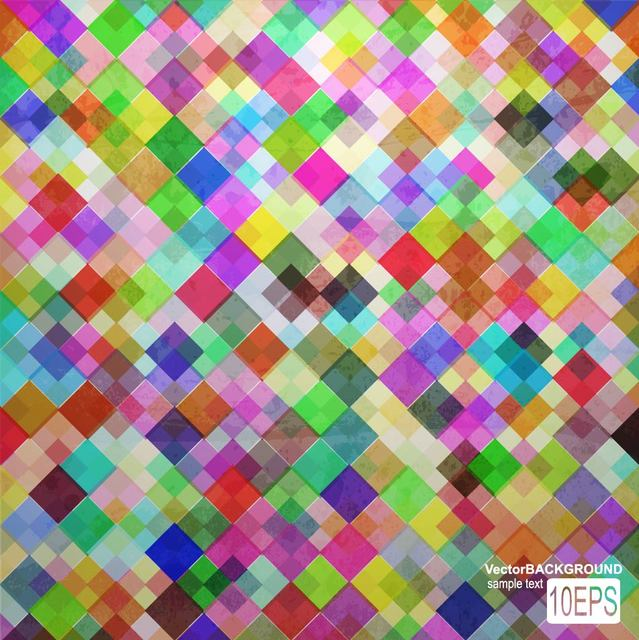 Free Colorful Tiled Pattern Background