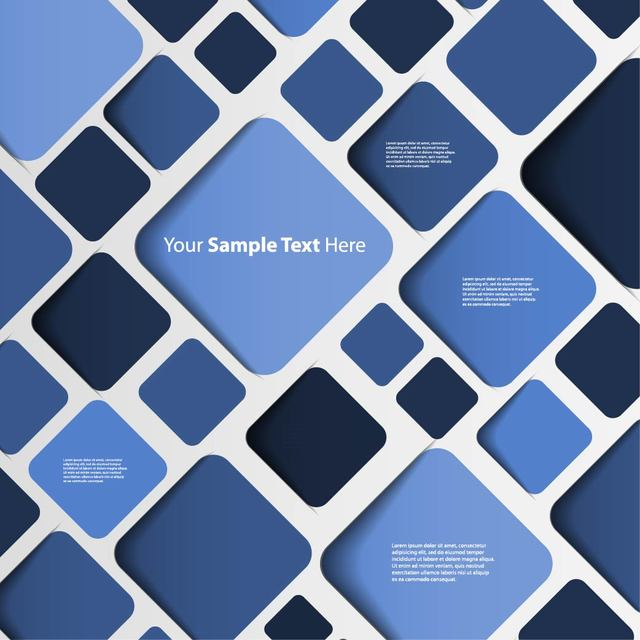 Free Abstract Blue Background with Rounded Squares