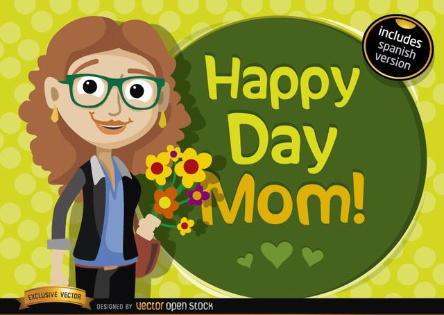 Free Happy day mom cartoon