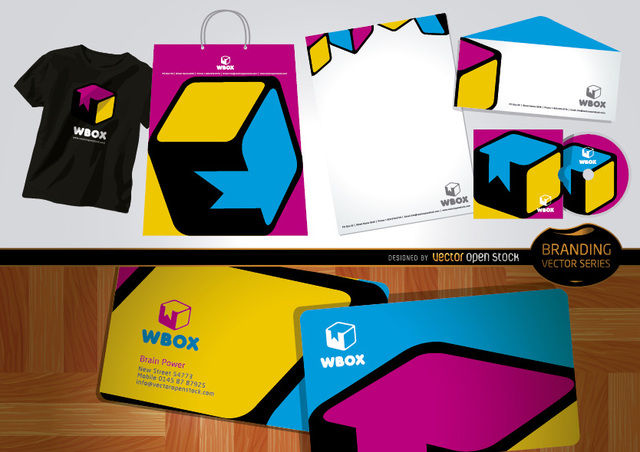Free Branding WBox design for stationery and t-shirts