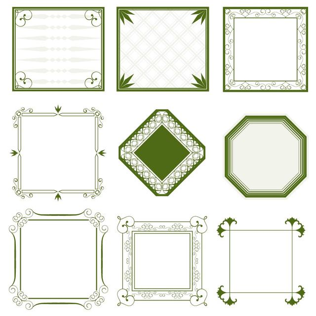 Free Vectors: Vintage Minimalist Ornate Frame Collection | Great