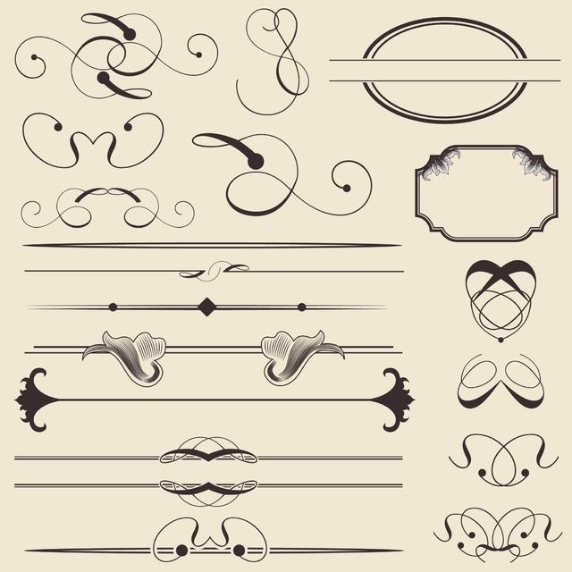 Free Calligraphic Decoration and Frame Pack