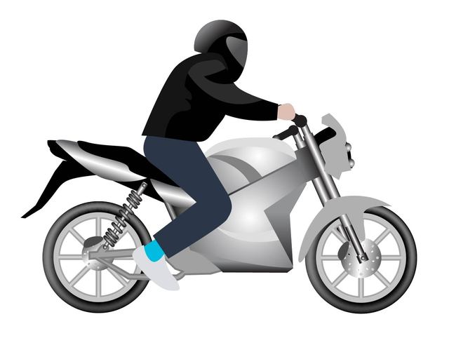 Free Man Riding Motorbike