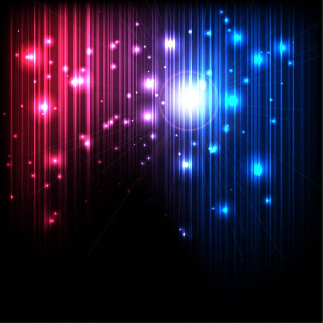 Free Glowing Magic Background with Lines and Lights